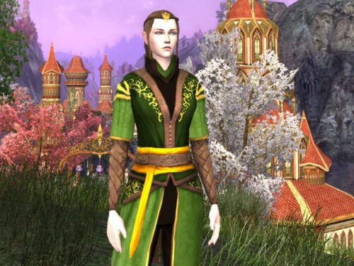 Tunic and Trousers of New Bloom Cosmetic