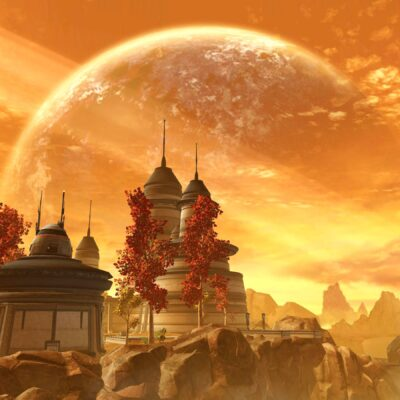 A planet unique to SWTOR, the autumnal world of Voss