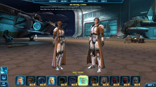 SWTOR Free-to-Play Character Creator - 3 Republic Species