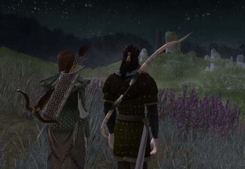 Caethir and Hanawen look over the Barrow-Downs
