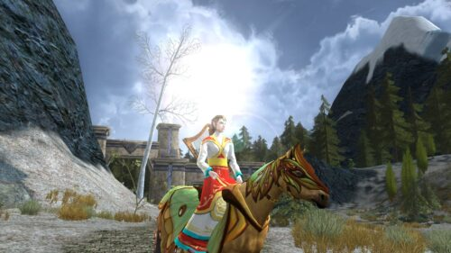 High Elf colourful outfit in LOTRO