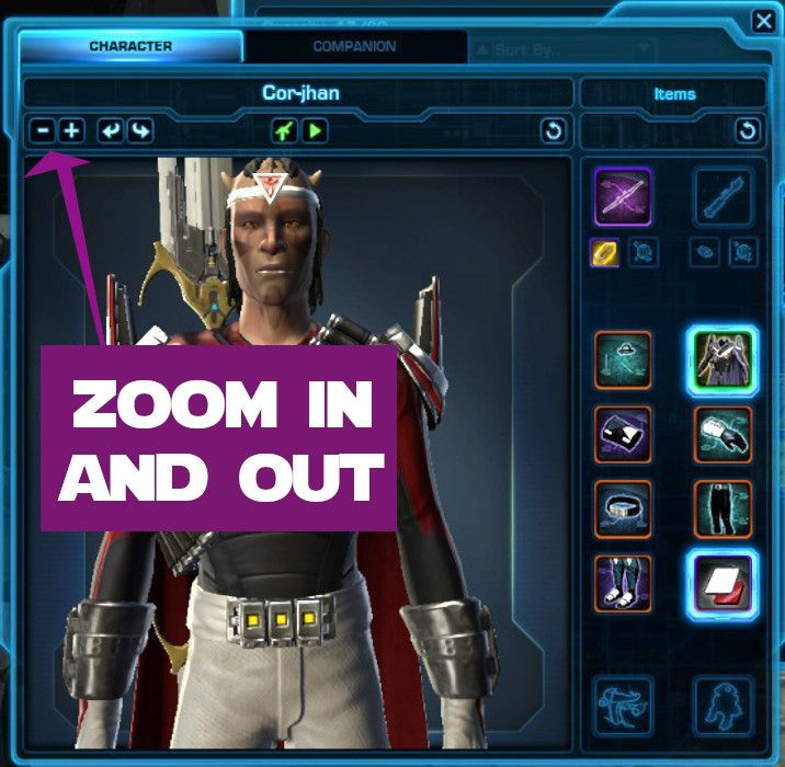Zoom in and Out in the Gear Preview Window