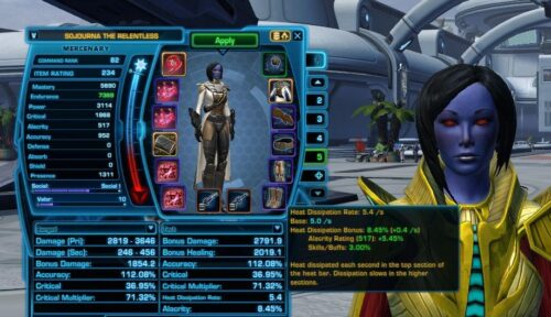 How Heat Dissipation Rate is Calculated in SWTOR