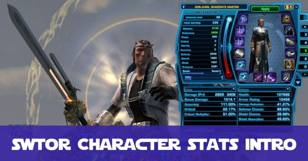 SWTOR Character Combat Stats Guide for Beginners