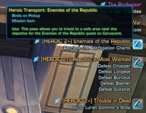 Heroic Transport Facility for Heroic Missions (Obviously!)