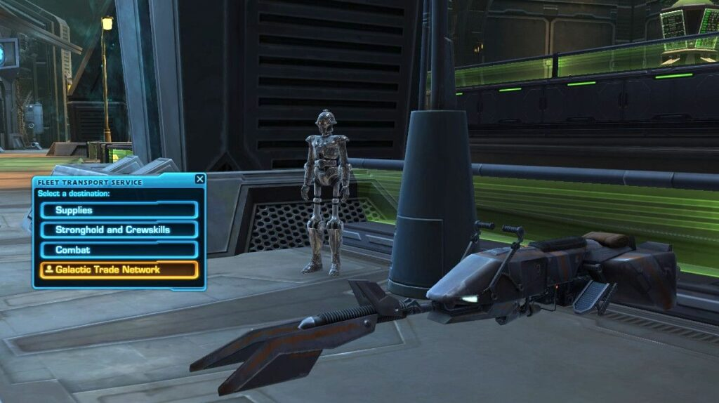 New Speeder Bike Taxis on the Fleet's Spacestation introduced in 6.0