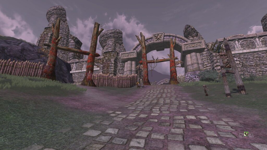 Norbury Gates - leading to Fornost City itself