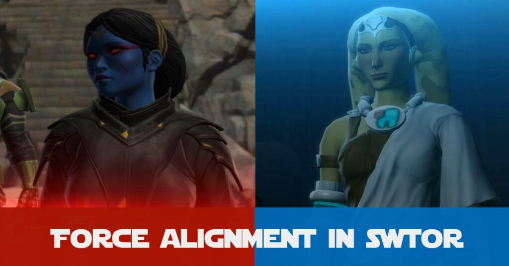 SWTOR Force Alignment: Are you Dark, Light or Neutral? And why do Non-Force Users have an alignment?