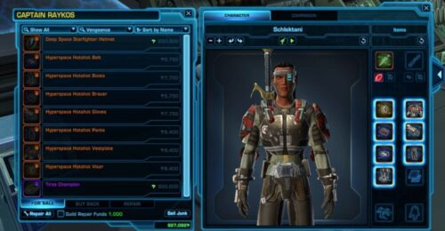 Hyperspace Hotshot Armour Set / Outfit