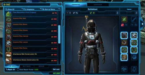 Imperial Pilot Armour Set / Outfit