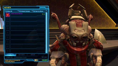 SWTOR's White Acute Module disables XP from Events like the Double-XP months