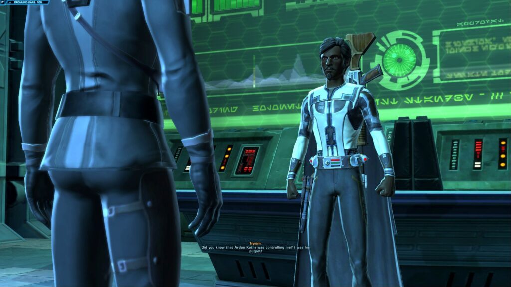 Being angry with the Minister of Intelligence in SWTOR