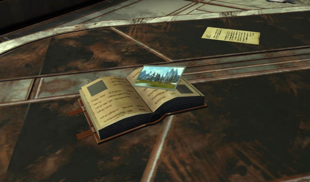 Book with a Picture of Alderaan as a bookmark from SWTOR