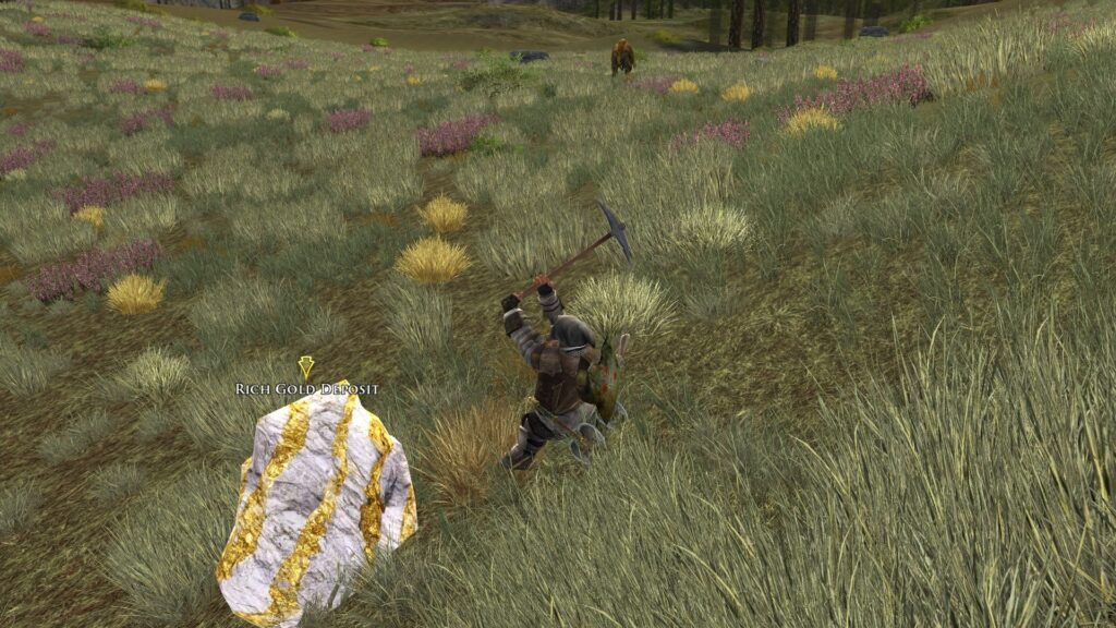 Digging for Gold in LOTRO - it can be used for crafting, but not as currency, sadly!
