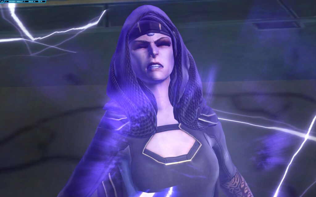 Empress Vaylin in Pain during SWTOR's Knights of the Eternal Throne