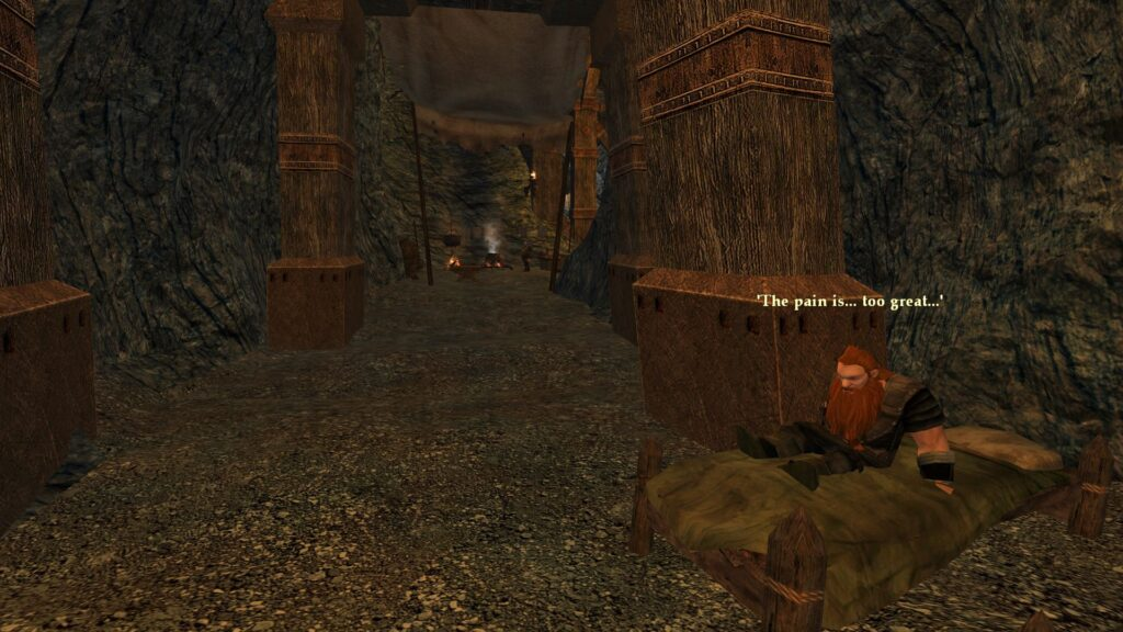 The Pain is Too Great - a Dwarf in Moria's Peaceful Path