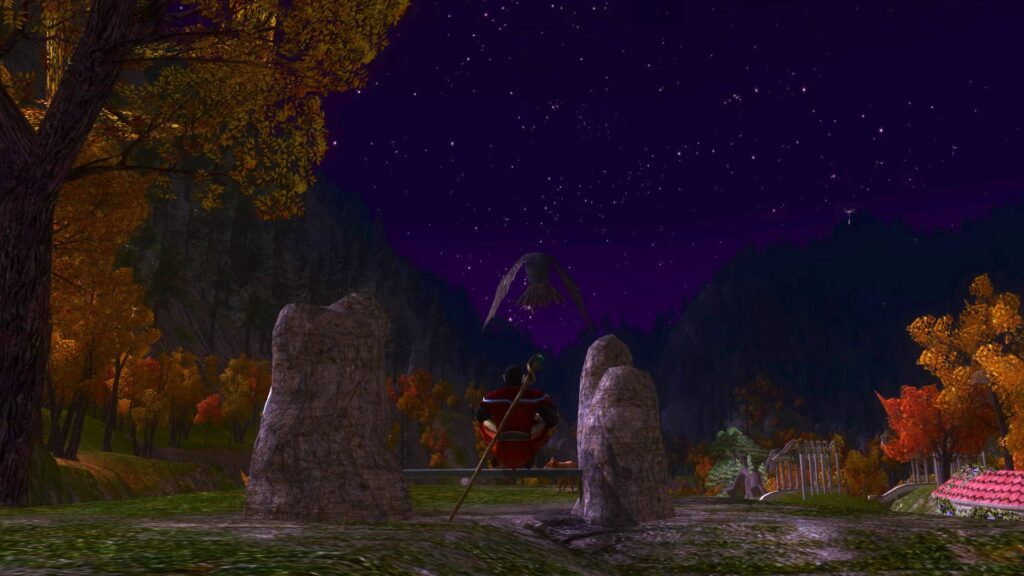 Relaxing late at night works for me and my LOTRO Lore-Master