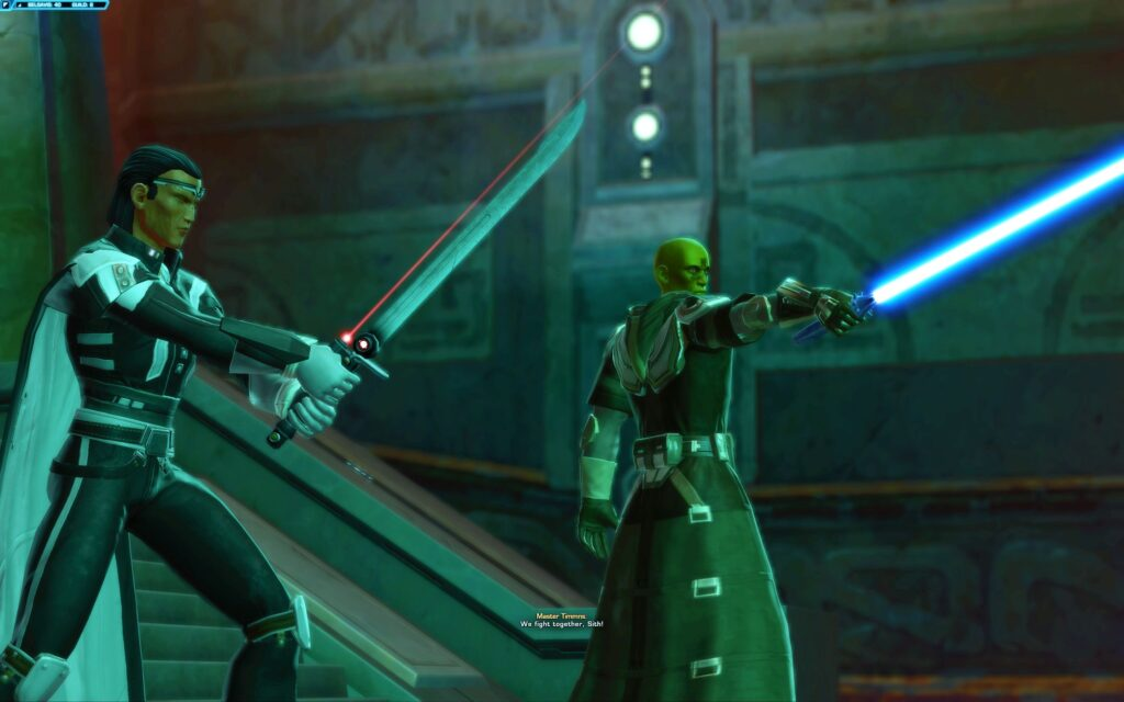 The Sith Warrior Fights alongside Jedi Master Timmns on Belsavis (SWTOR)