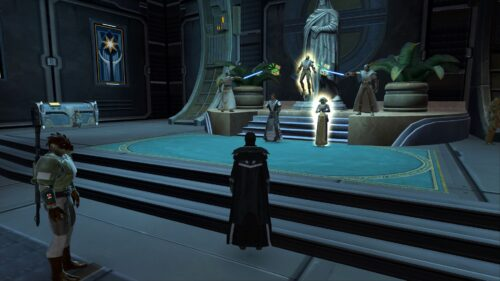 The Light Side Vendors together on Fleet in SWTOR