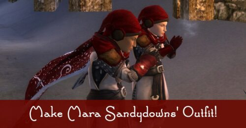 LOTRO How to Make Mara Sandydowns outfit from Frostbluff