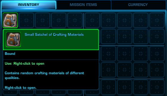 Small Satchel of Crafting Materials