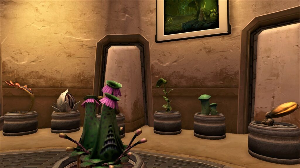 Various Stronghold Decorations that are also gathering nodes in SWTOR