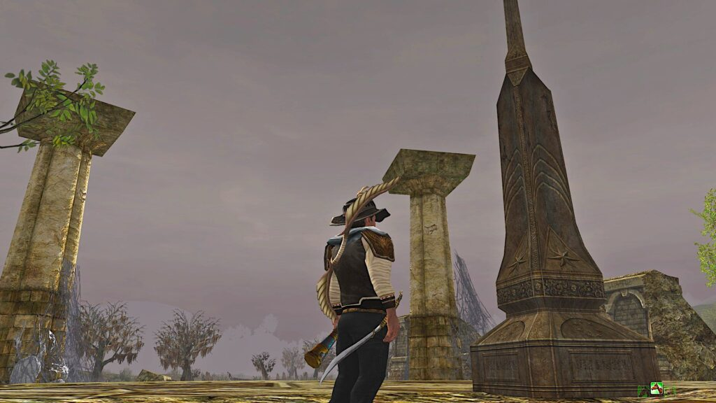 The Ancient Obelisk can be found in Midgewater Marsh in Bree-land
