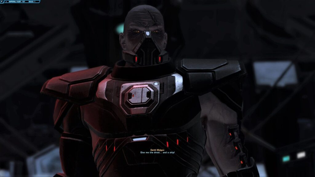 Darth Malgus is revealed to have conditioning approved by Acina during Onslaught