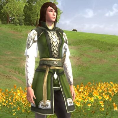 Braided Tunic and Trousers of the Spring Woods - Female Human