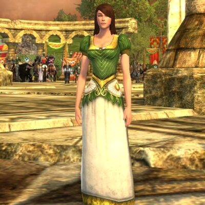 Short-Sleeved Dress of the Spring Maid - LOTRO Spring Festival Upper Body Cosmetic