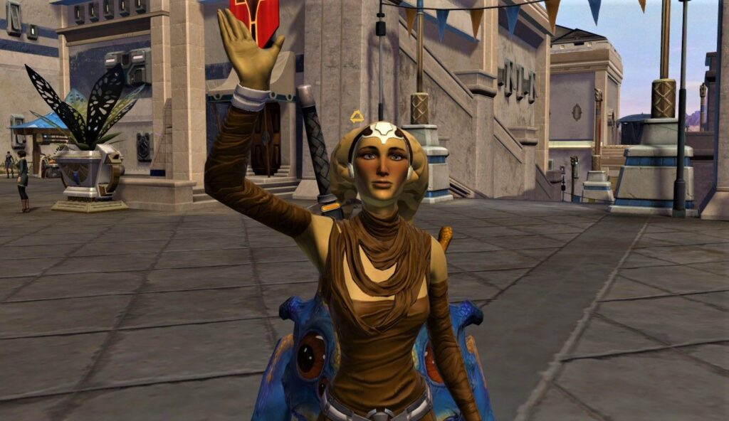 Talitha waves from Onderon in SWTOR