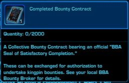 This is the Completed Bounty Contract item in SWTOR