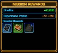 Completed Bounty Contract Mission Rewards