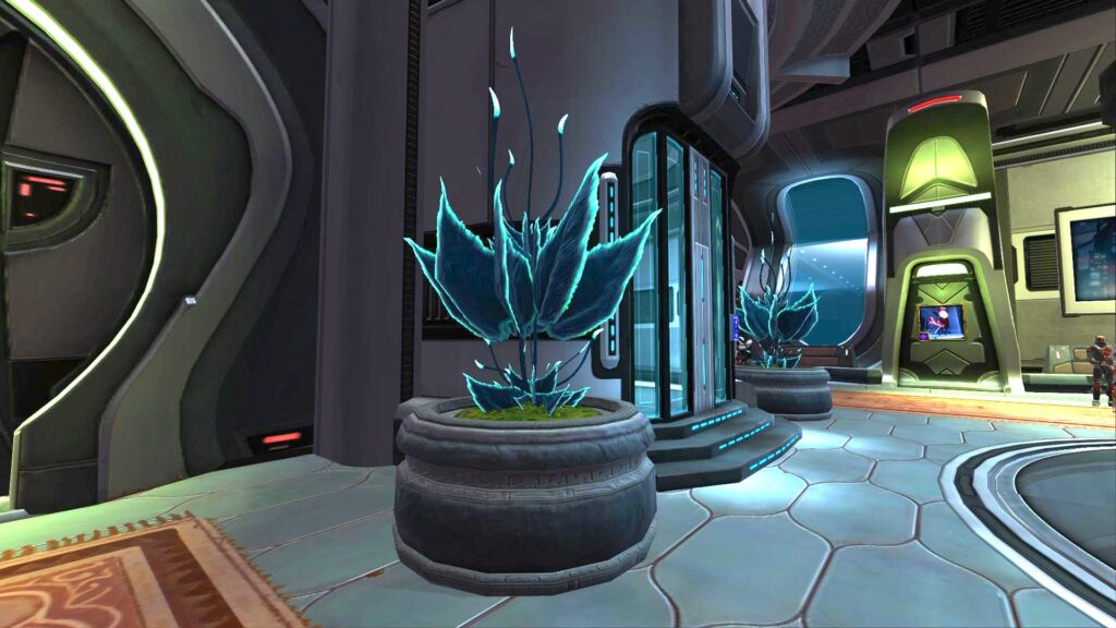 Planter: Glowing Cave Fern Stronghold Decoration, SWTOR