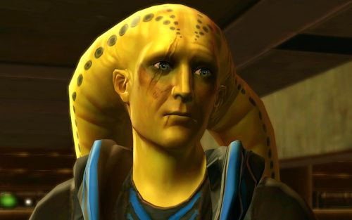 Lo'tar is a Twi'lek on Hutta with a Bounty Contract for you to fulfil