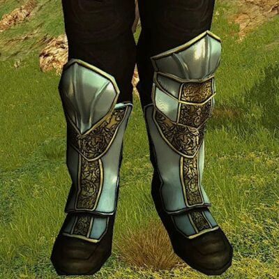 Plated Ceremonial Greaves - Feet Cosmetic