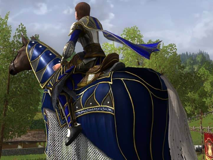 Steed of Remembrance - LOTRO 14th Anniversary Event Mount (from the back)