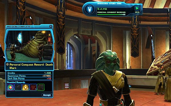 Personal Conquest Achieved on Tython by my new Jedi Knight
