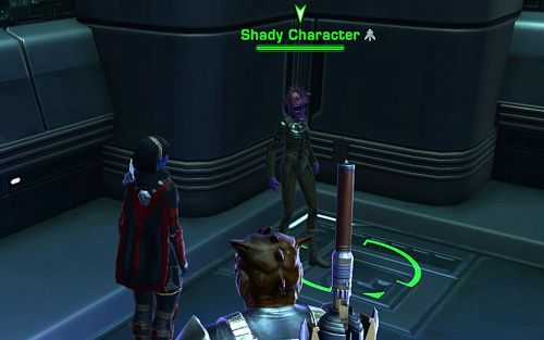 A Shady Character in a Coruscant Cantina