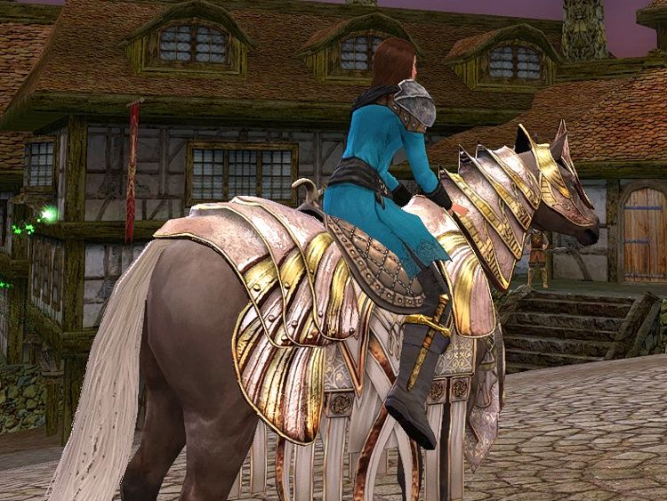 Steed of Regal Revelry from the Back