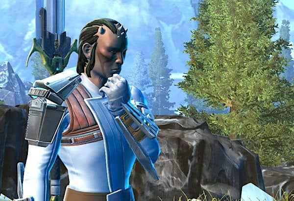 My SWTOR Zabrak Jedi Shadow thinking on Alderaan