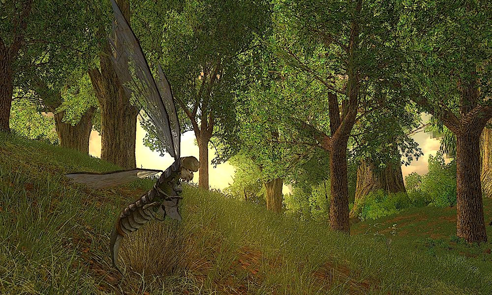 Sickleflies can be found fluttering through the woods in Far Chetwood in Bree-land