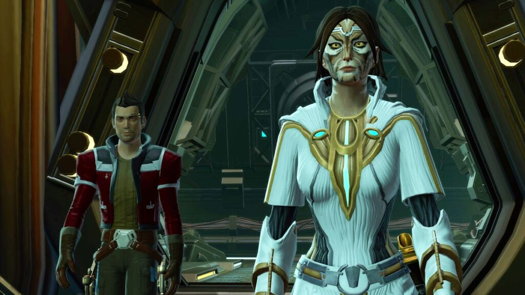 My Cathar Sith Warrior and Theron Shan on Iokath in SWTOR
