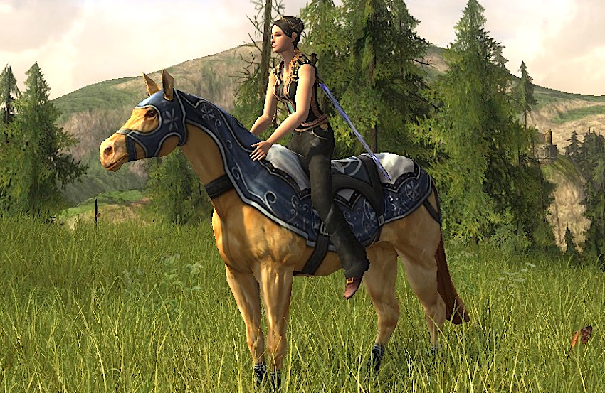 Snowy Steed - Mithril Coins Horse, LOTRO