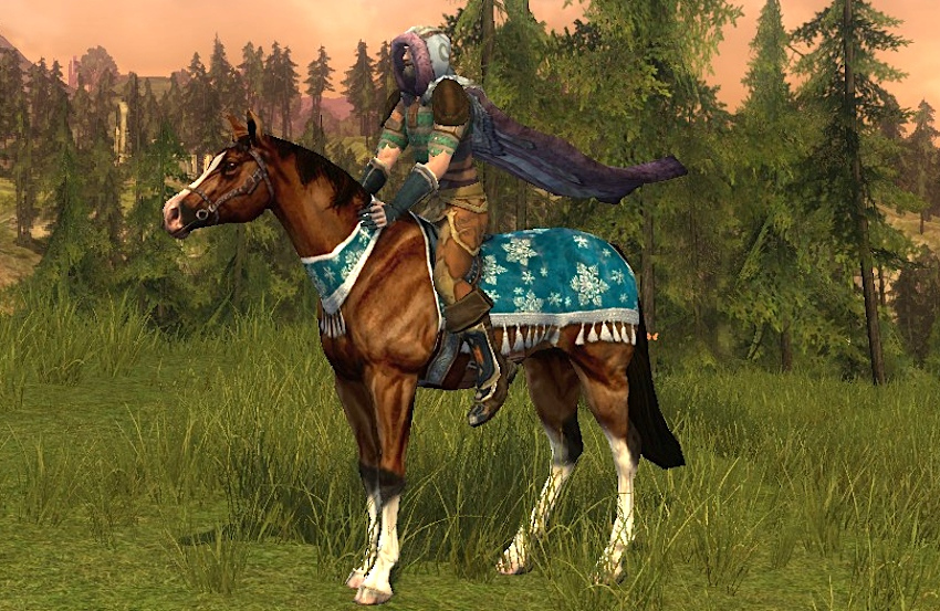 Yule Festival Steed - a Mithril Coins Horse