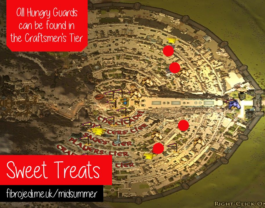 Hungry Guards Map - Sweet Treats