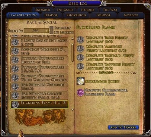 LOTRO Flickering Flame Title Deed