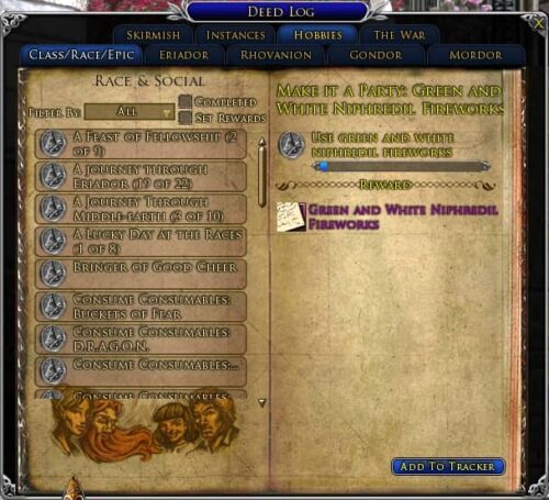 Make It a Party - Green and White Niphridil Fireworks Deed, LOTRO