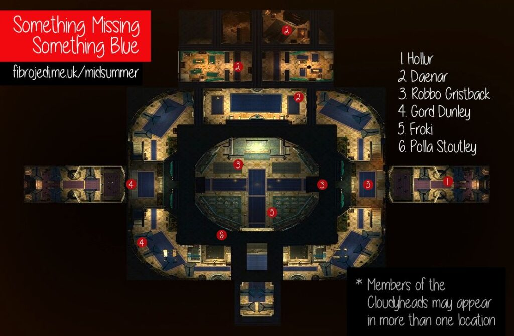Something Missing, Something Blue - Midsummer Festival Quest Map - Blue Theatre