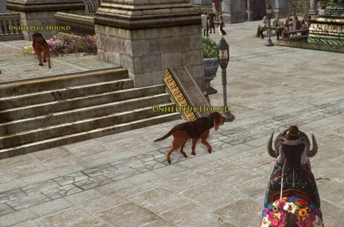 You're chasing these Unhelpful Hounds in Minas Tirith